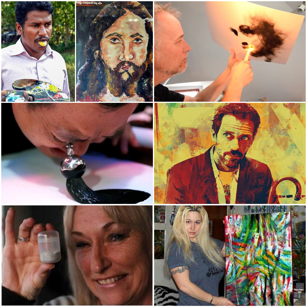 6Artists Who Paint With Everything but Their Hands, soPollock Wasn't That Crazy After All
