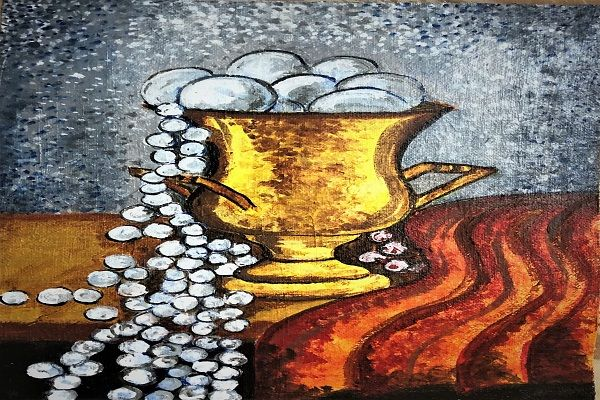 paintings online - Cornucopia- Cup of Happiness by Lavanya Venkatesh