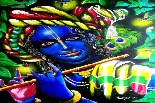 Paintings online - God of Love by Ravi Mavache
