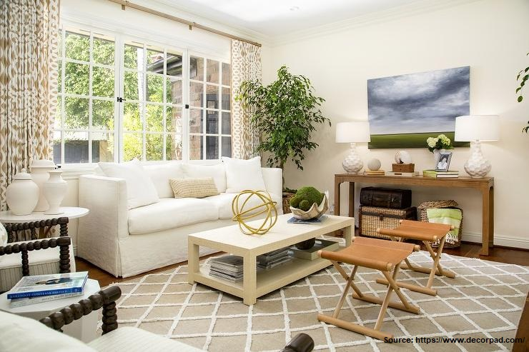 watercolor landscape painting in room