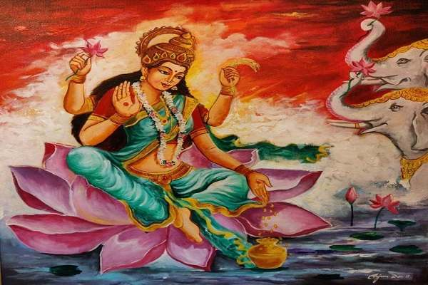Paintings Online - Maha Lakshmi by Arjun Das