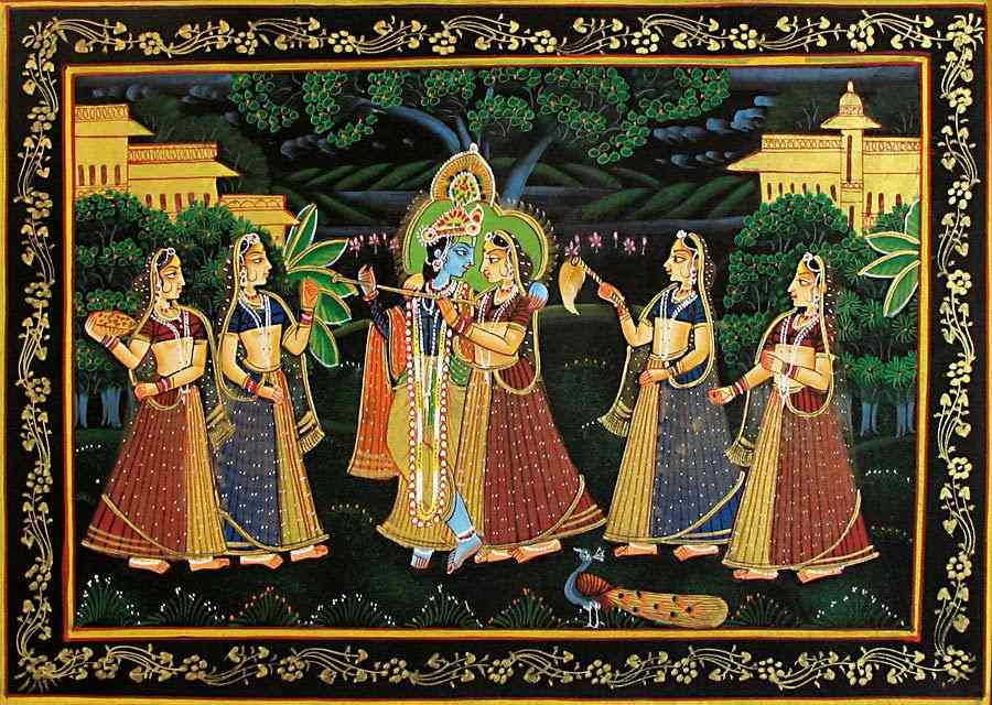 Miniature Painting: Radha Krishna - art forms of India