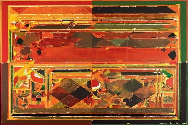 Saurashtra by Syed Haider Raza - most expensive Indian paintings