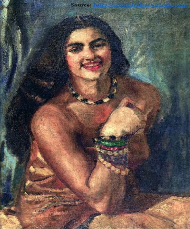 Famous Portrait Paintings By Amrita Sher Gil Indian Art Ideas