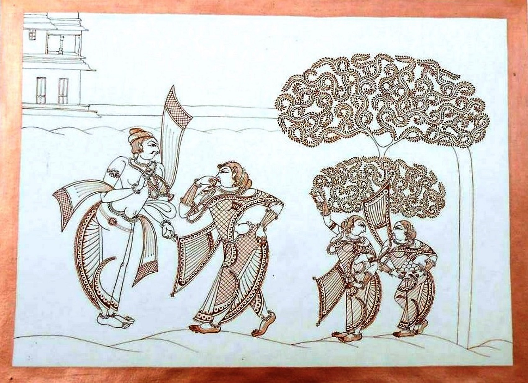 Miniature painting - Indian traditional art