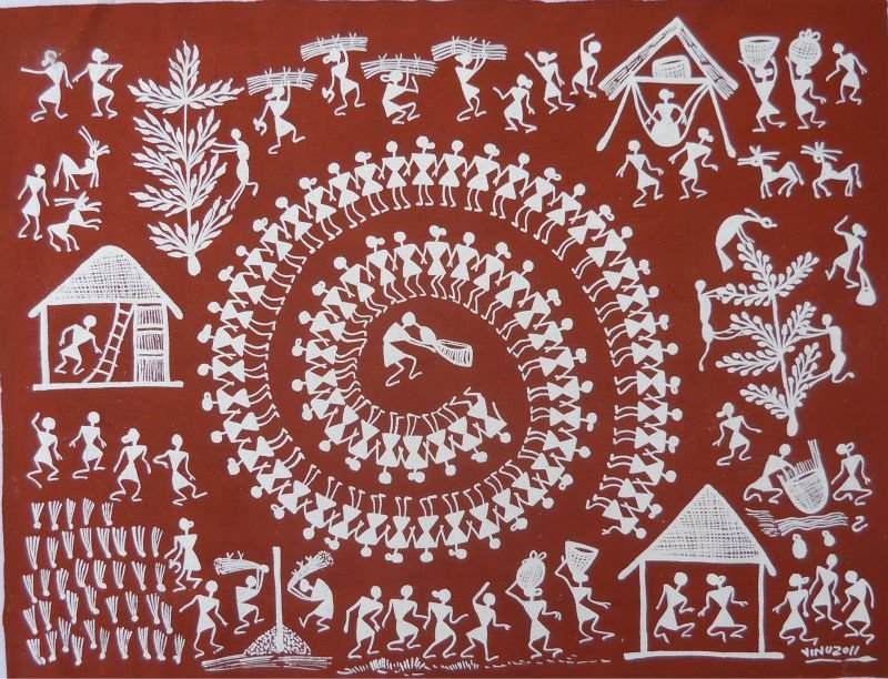 Warli Art - types of Indian art