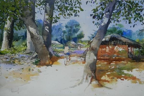 landscape paintings by famous artists - Bijay Biswal