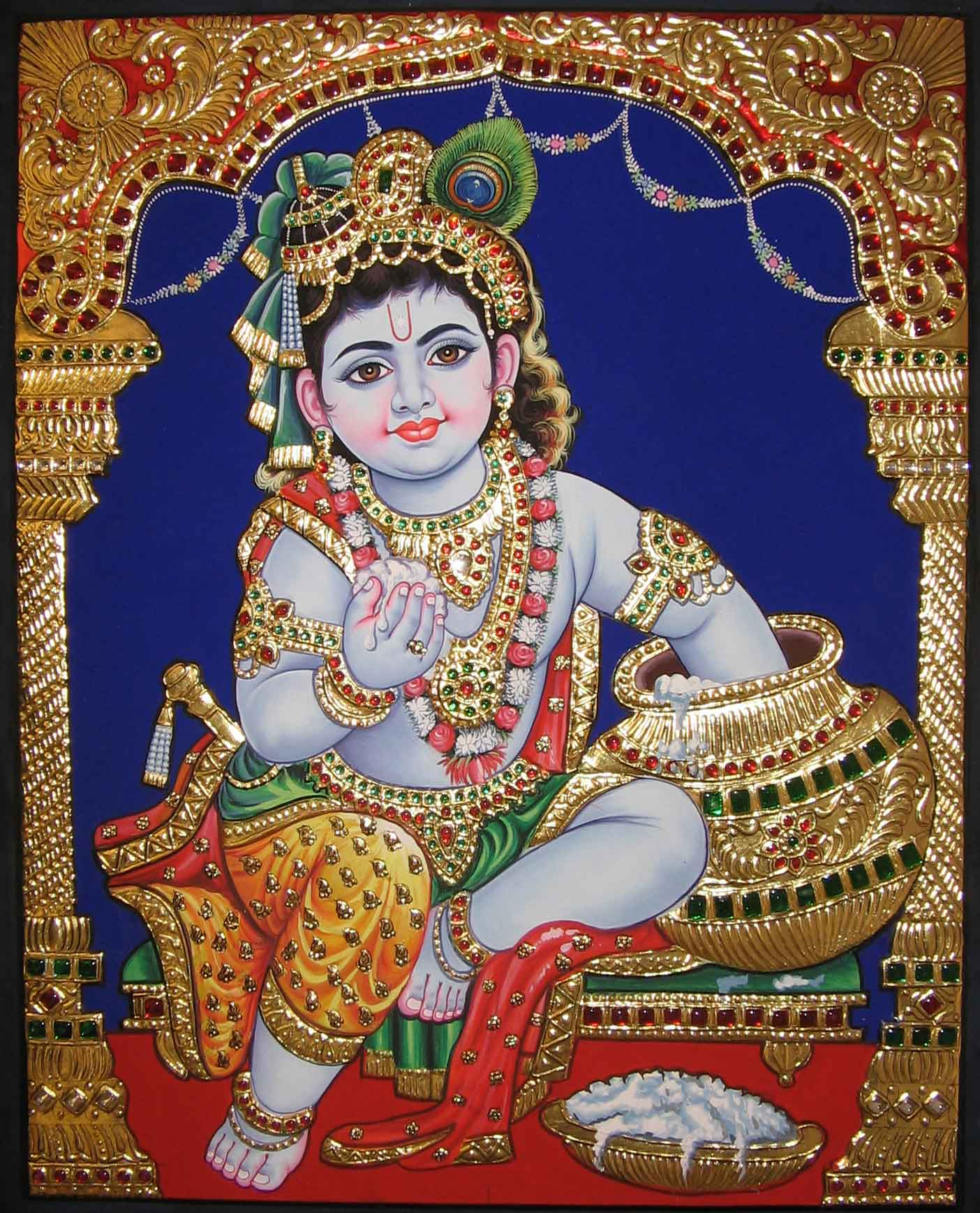 Buy Painting Makhan Chor Artwork No 237 By Indian Artist