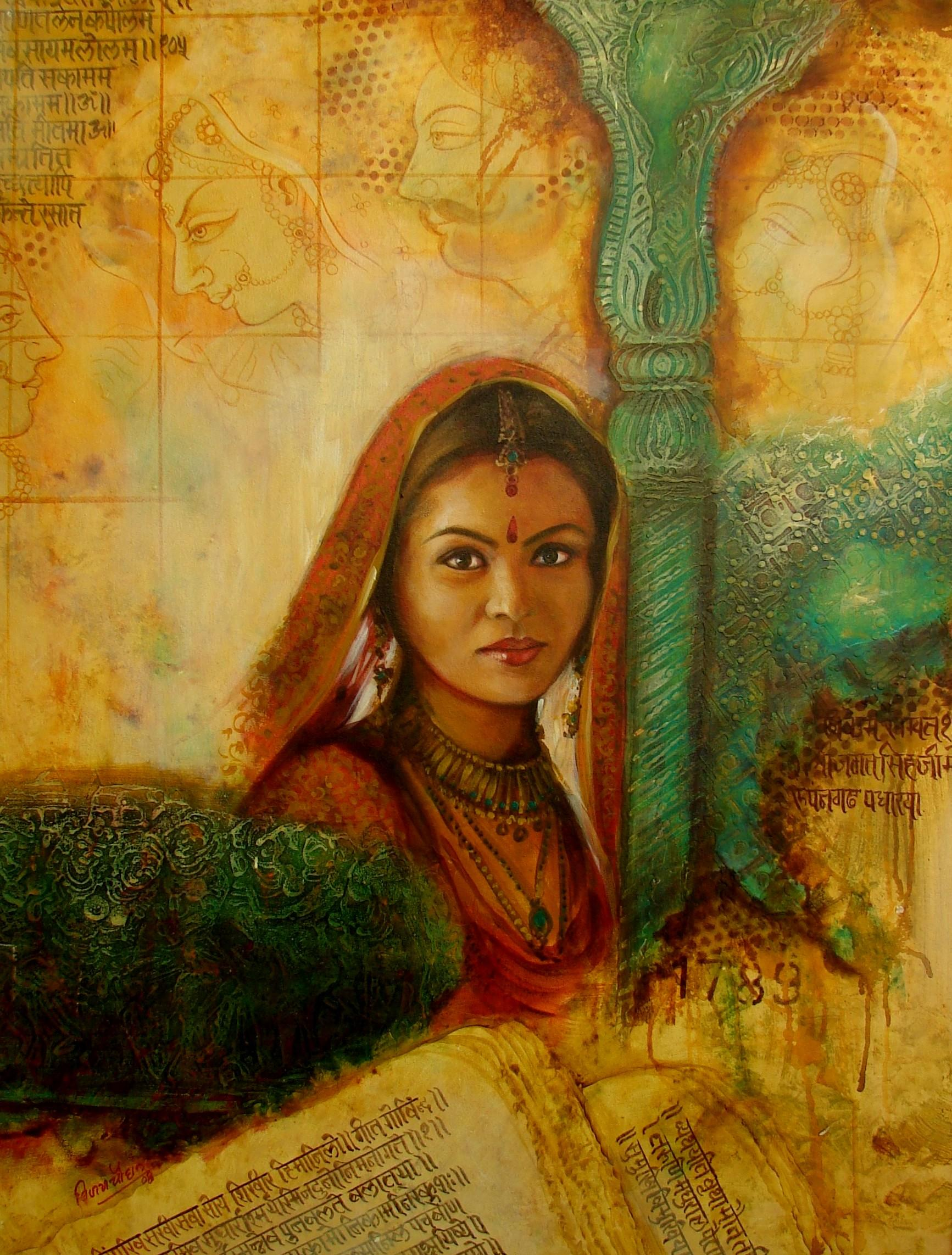 Buy Painting Women Series 2 Artwork No 334 by Indian ...