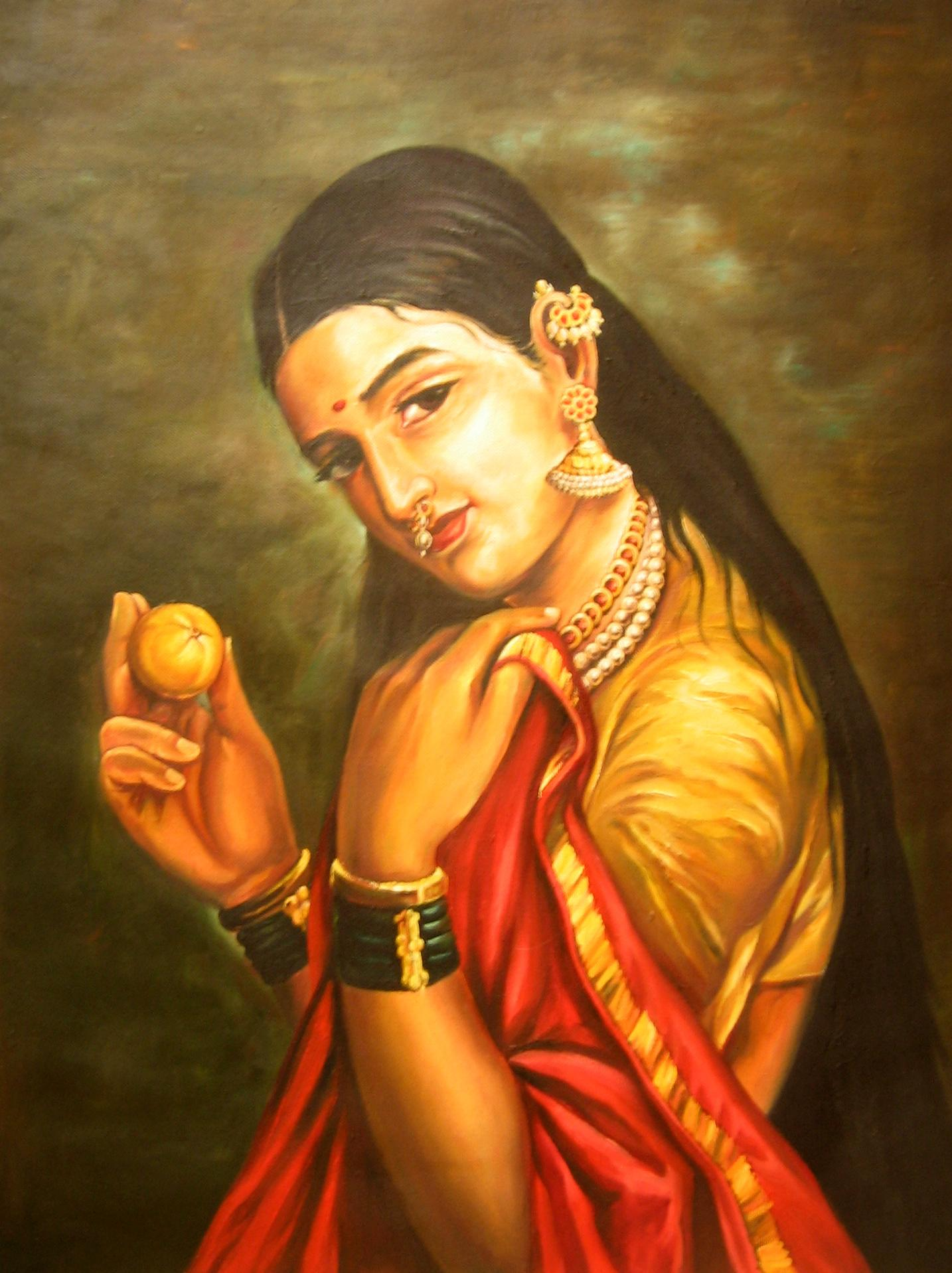 Raja Ravi varma Reproductional Painting 663