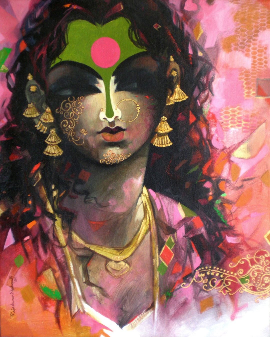 Buy 39 beauty 39 a beautiful painting by indian artist for Buy art online india