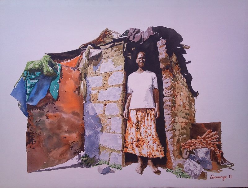 Buy Painting Poverty Artwork No 2901 By Indian Artist