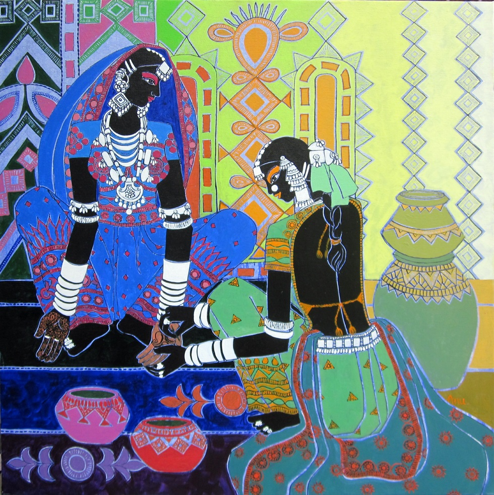 Anuradha thakur famous indian artist with all collection for Art decoration international pvt ltd