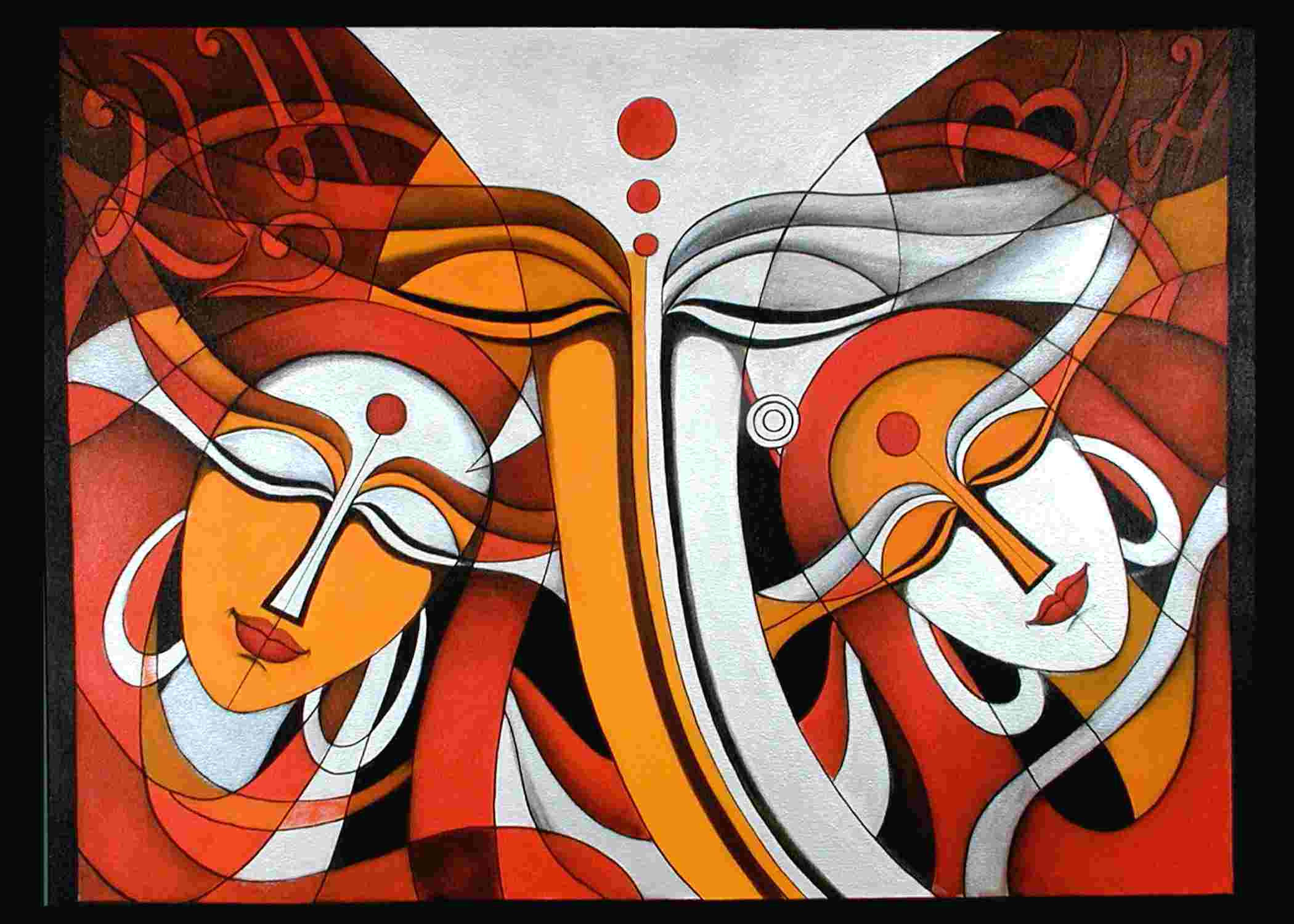 Buy 39 ganesha family 39 a beautiful painting by indian artist for Buy art online india