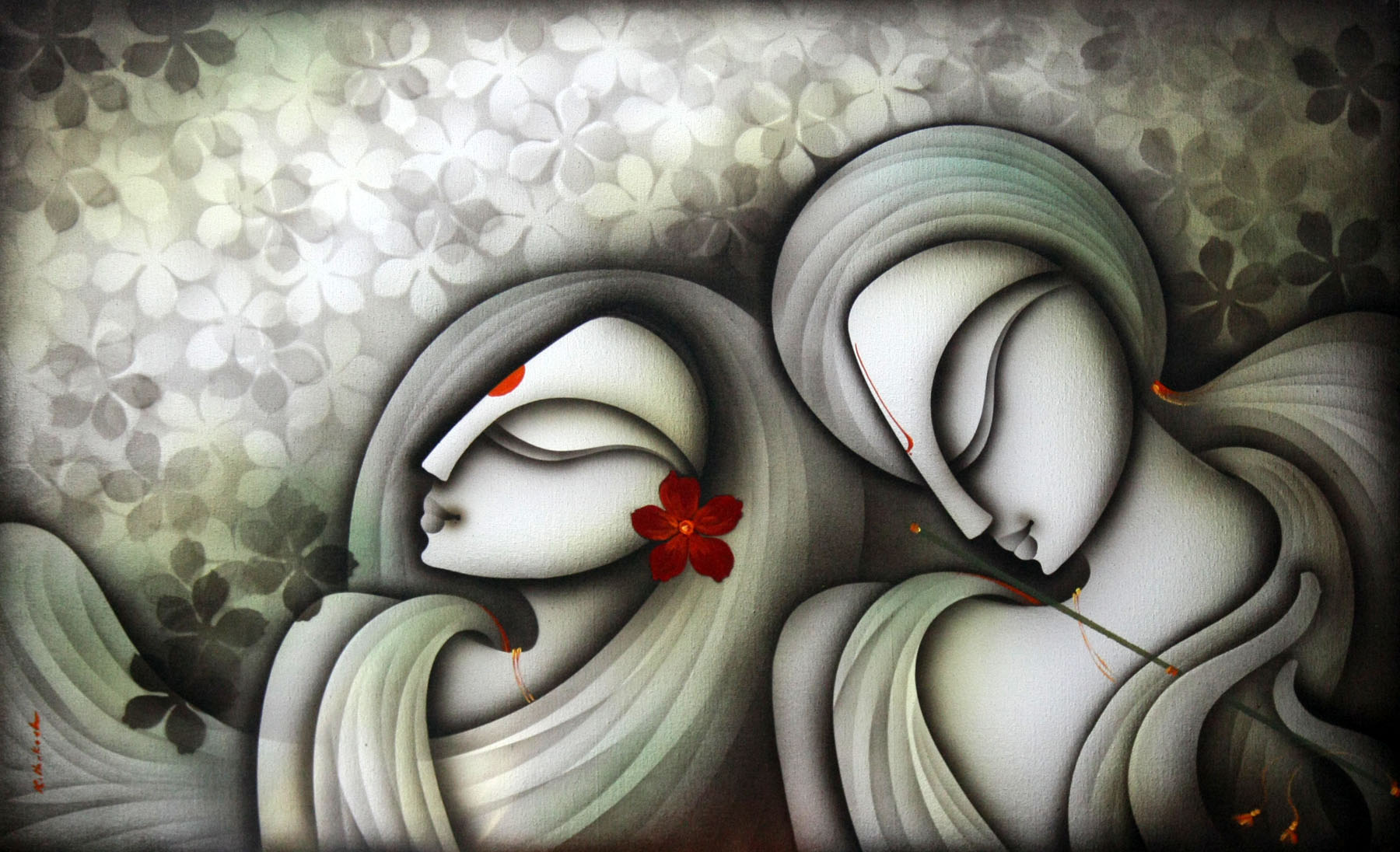 Modern Indian Paintings Of Love | www.imgkid.com - The ...