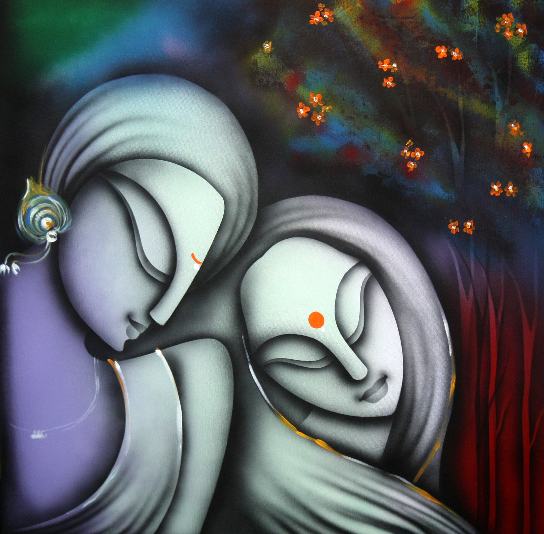Buy Painting Love Artwork No 3487 By Indian Artist K