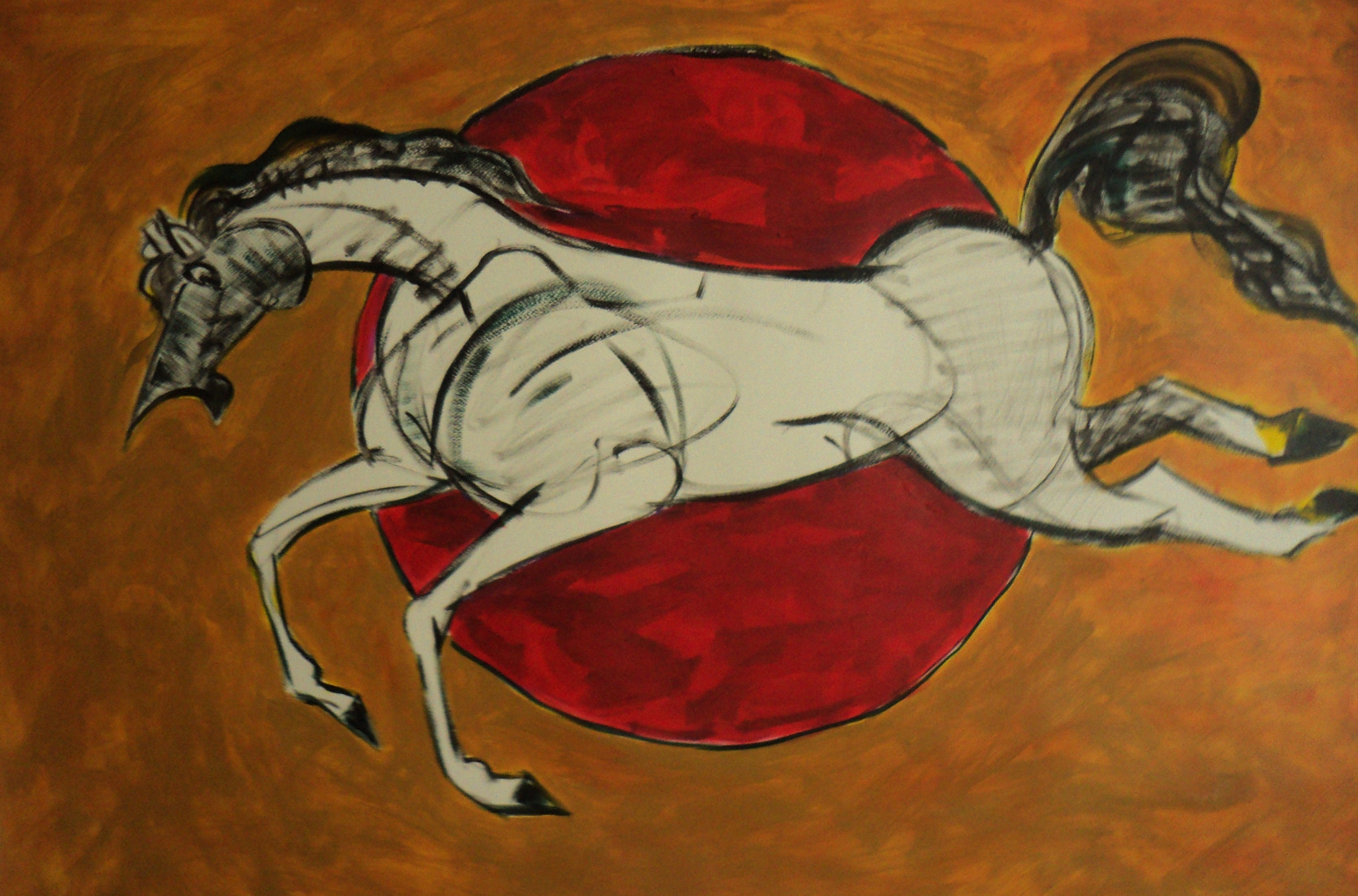 Buy painting untitled artwork no 3468 by indian artist mohd naseem this painting is from energy and power series of painting by artist sun is the symbol and source of energy as well as horse is the symbol of energy and biocorpaavc Gallery