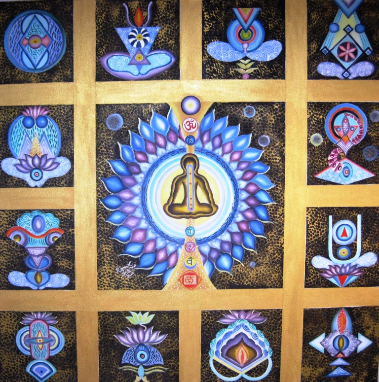 Buy 'Seven Chakras' A Beautiful Painting By Indian Artist