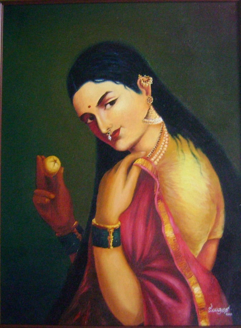 Lady with Apple 3642