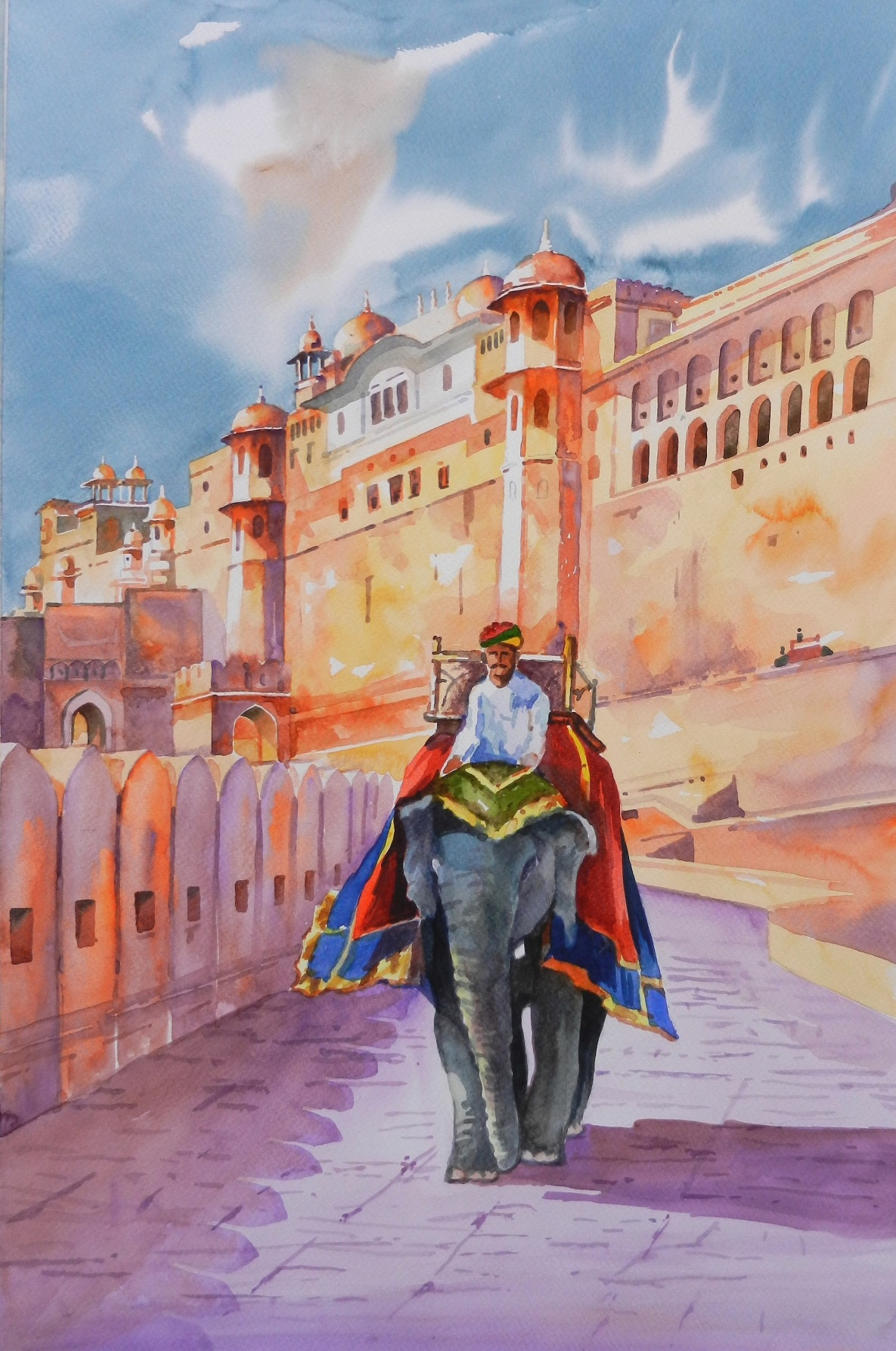 Elephant Ride at Amer Fort 4275