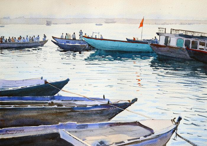 Boats on the Ganges 4682