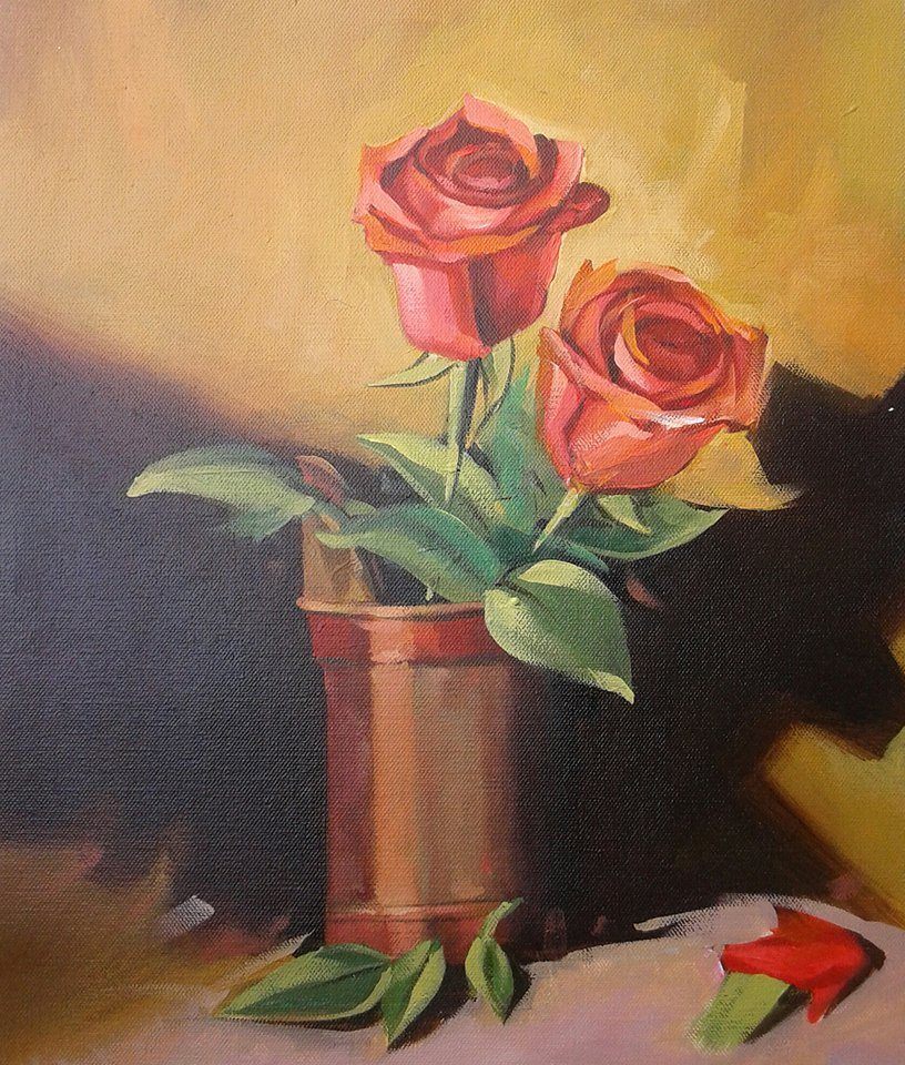Flower painting 5849