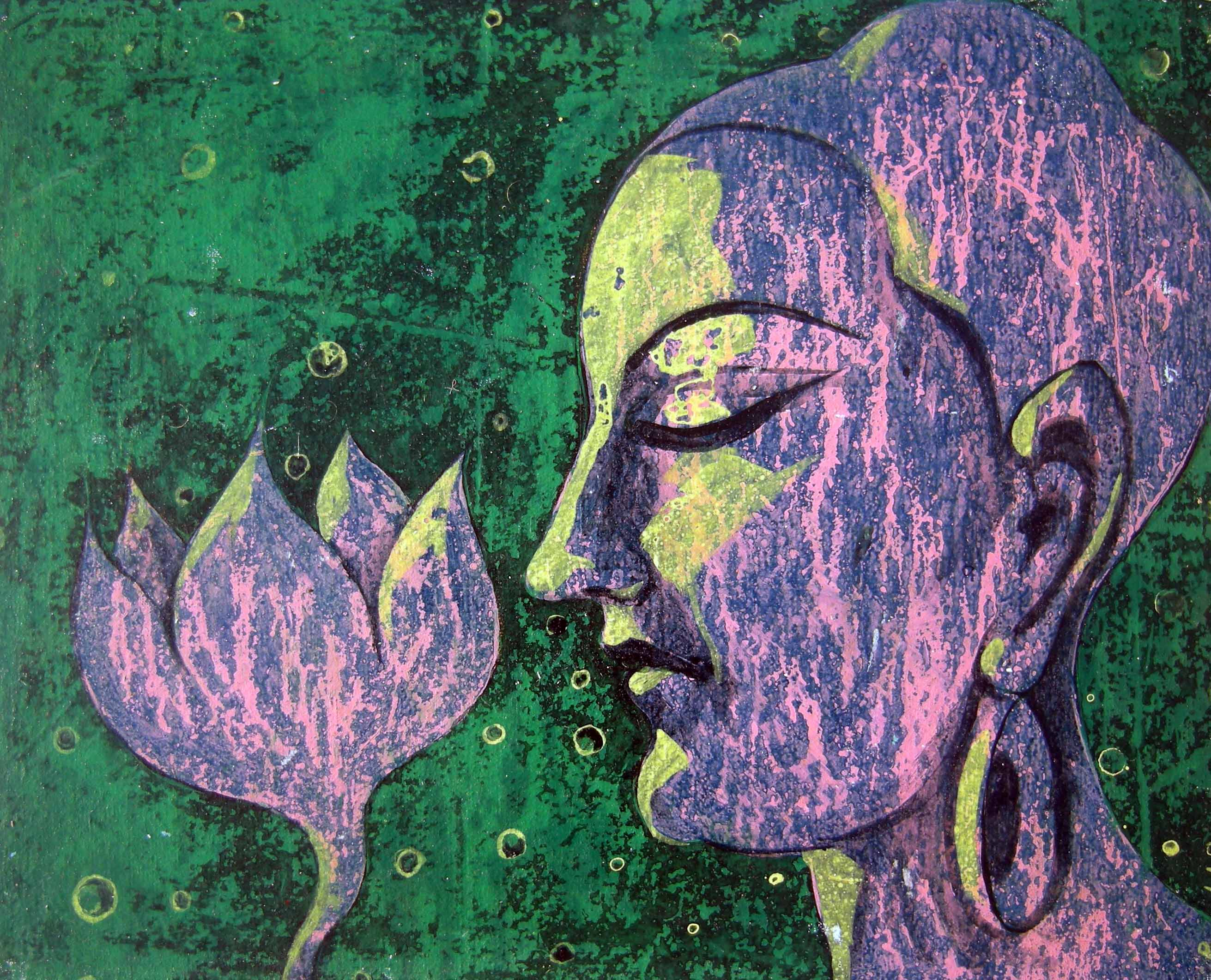 Buddha with Lotous 6059
