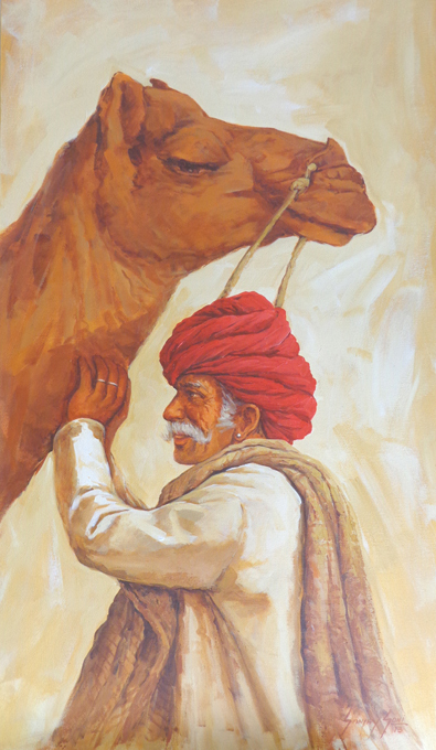 Man with Camel 6122