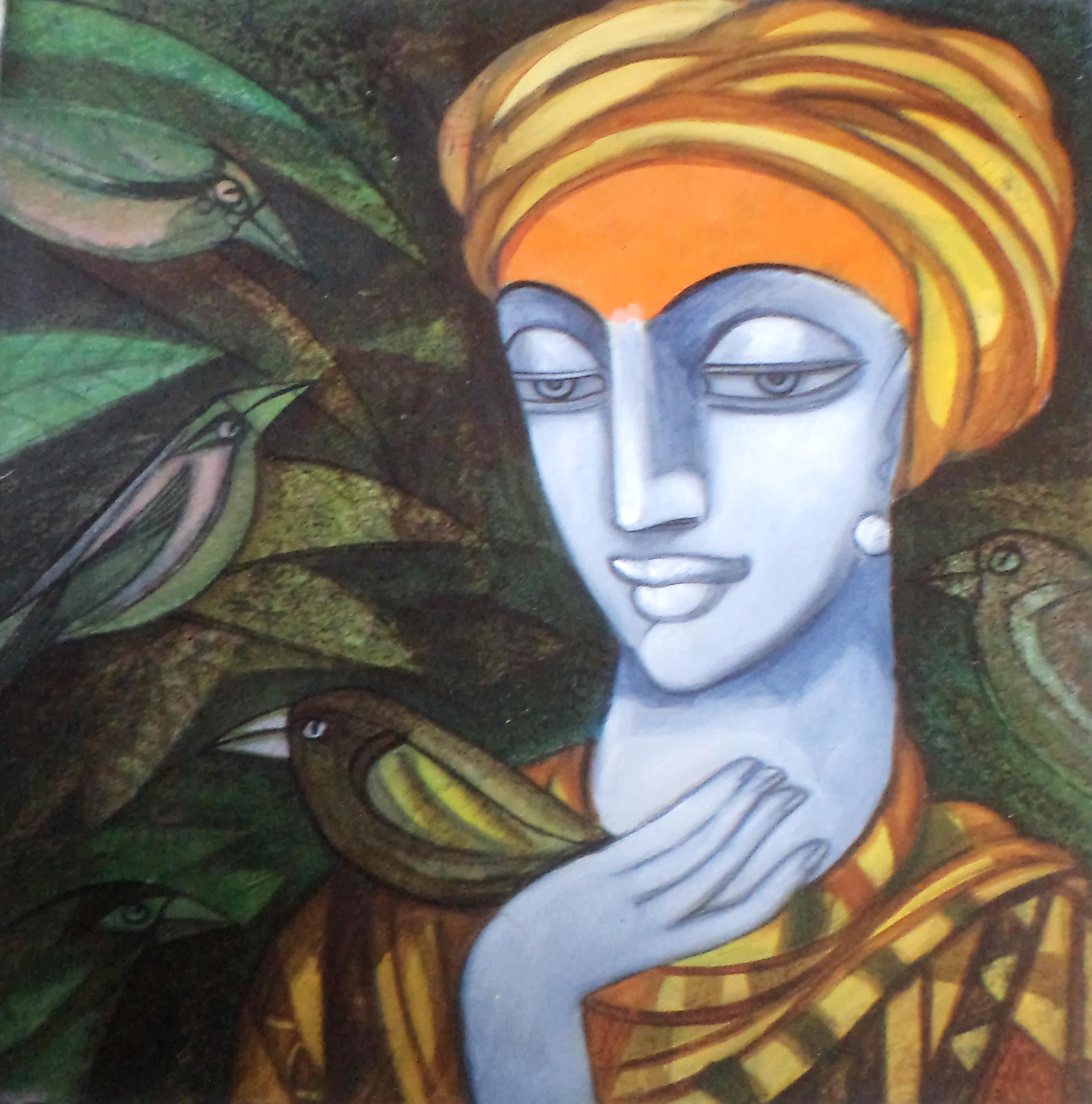 Buy Painting Composition Artwork No 6255 By Indian Artist