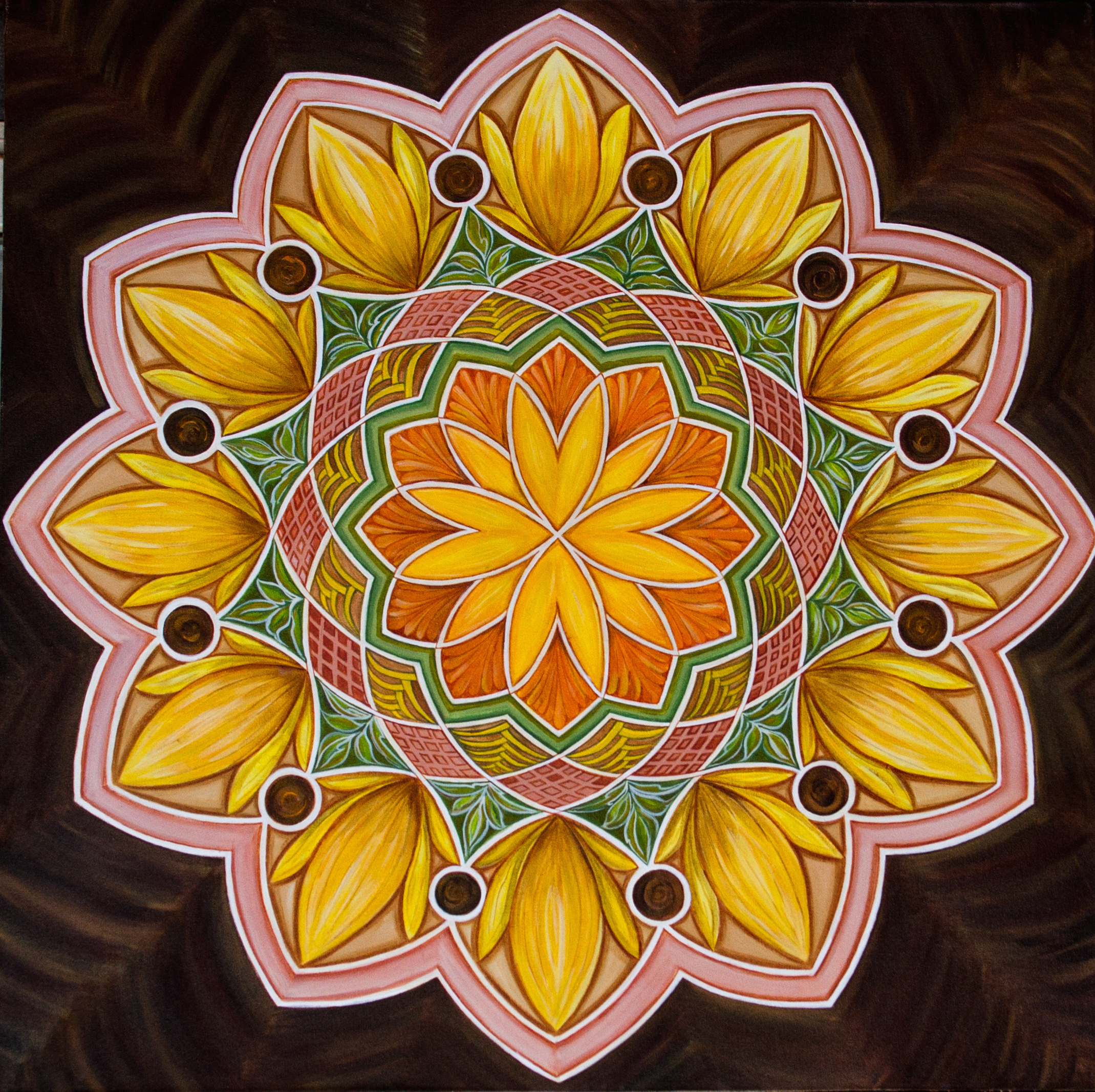 Sunflower Mandala 7101