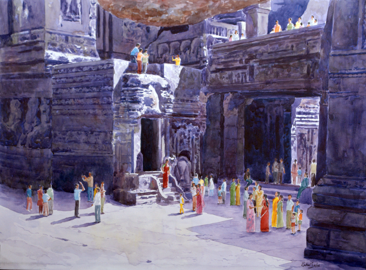 One fine day at the Ellora caves I 7139