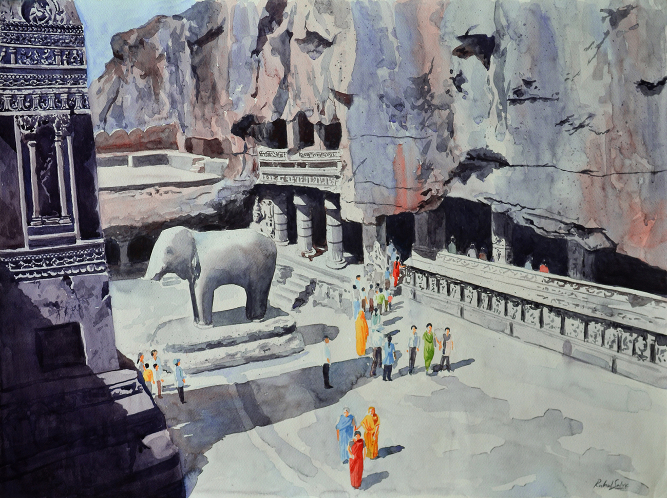 One Fine Day At The Ellora Caves II 7140