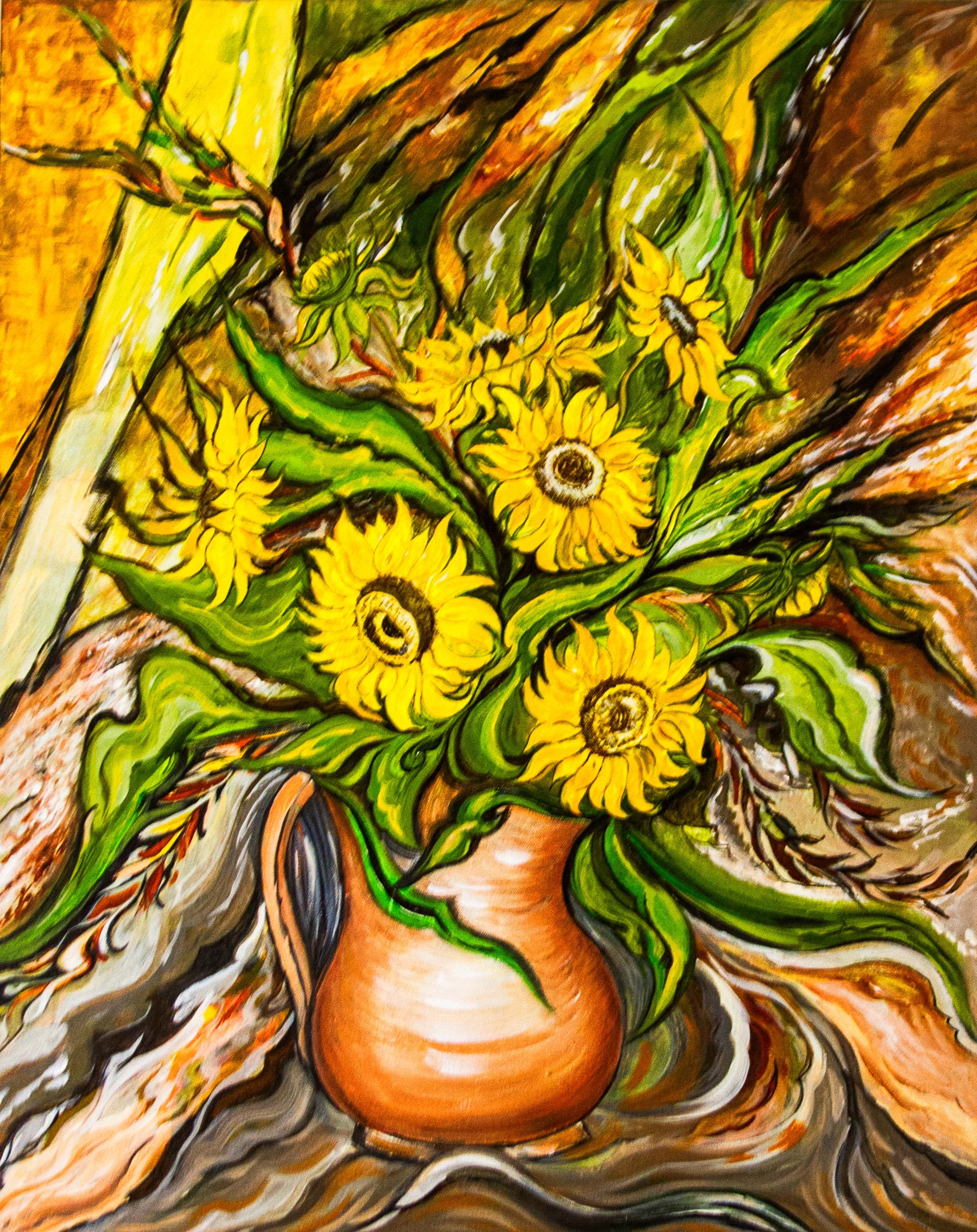 Sunflowers in a Vase 7220