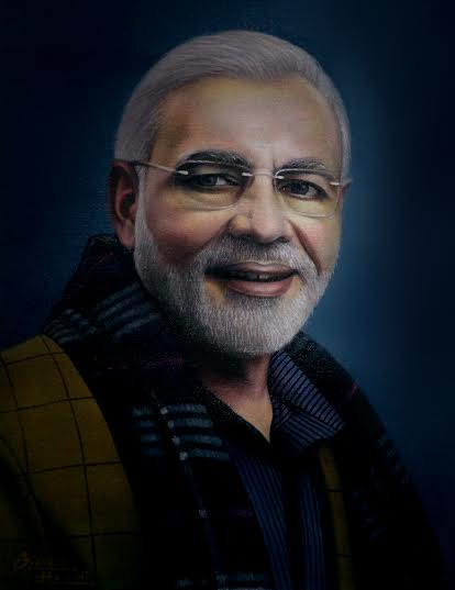 Narendra Modi Painting - PM India 7267