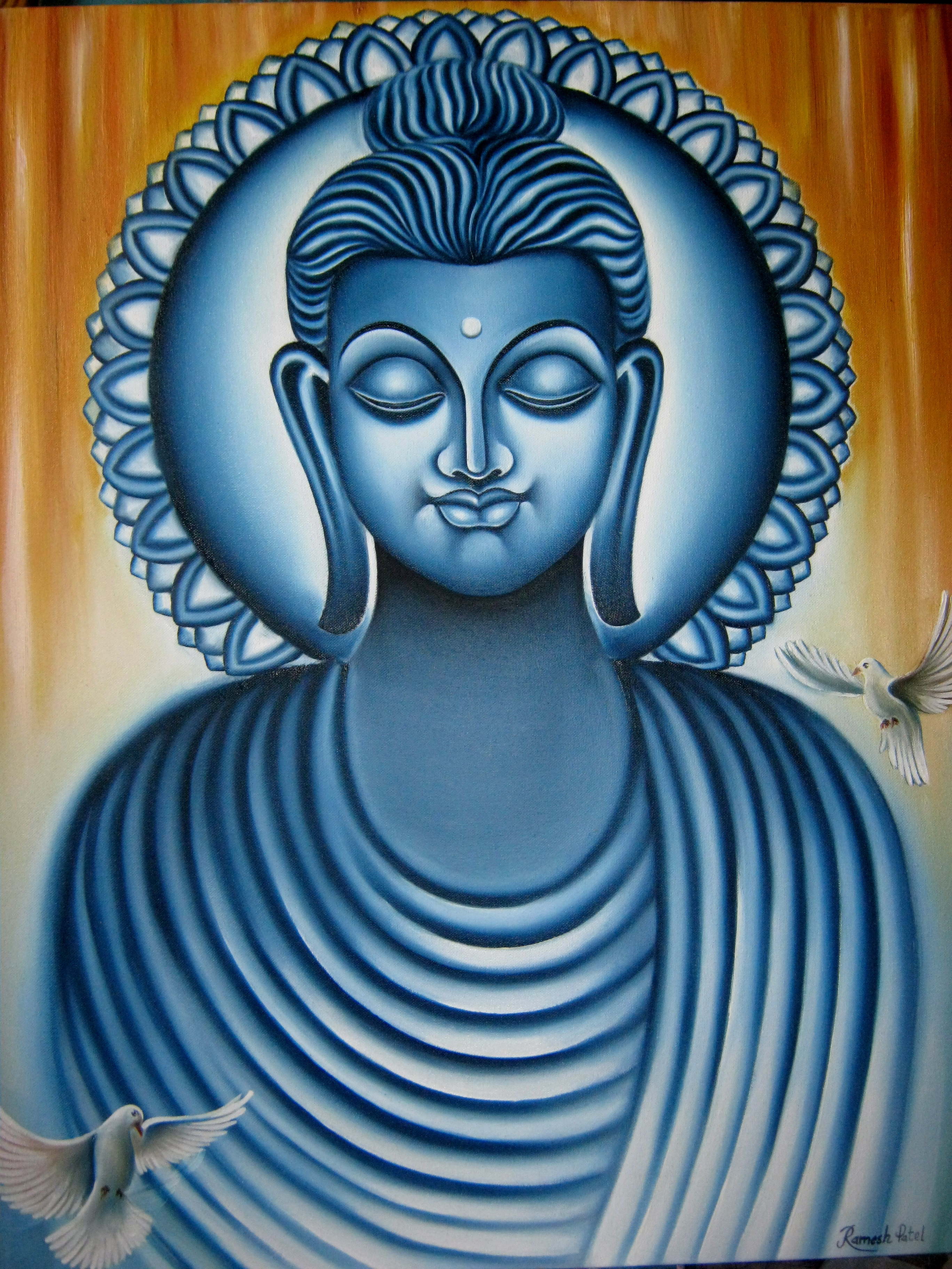 Buy Painting Lord Buddha Painting Artwork No 7595 by ...