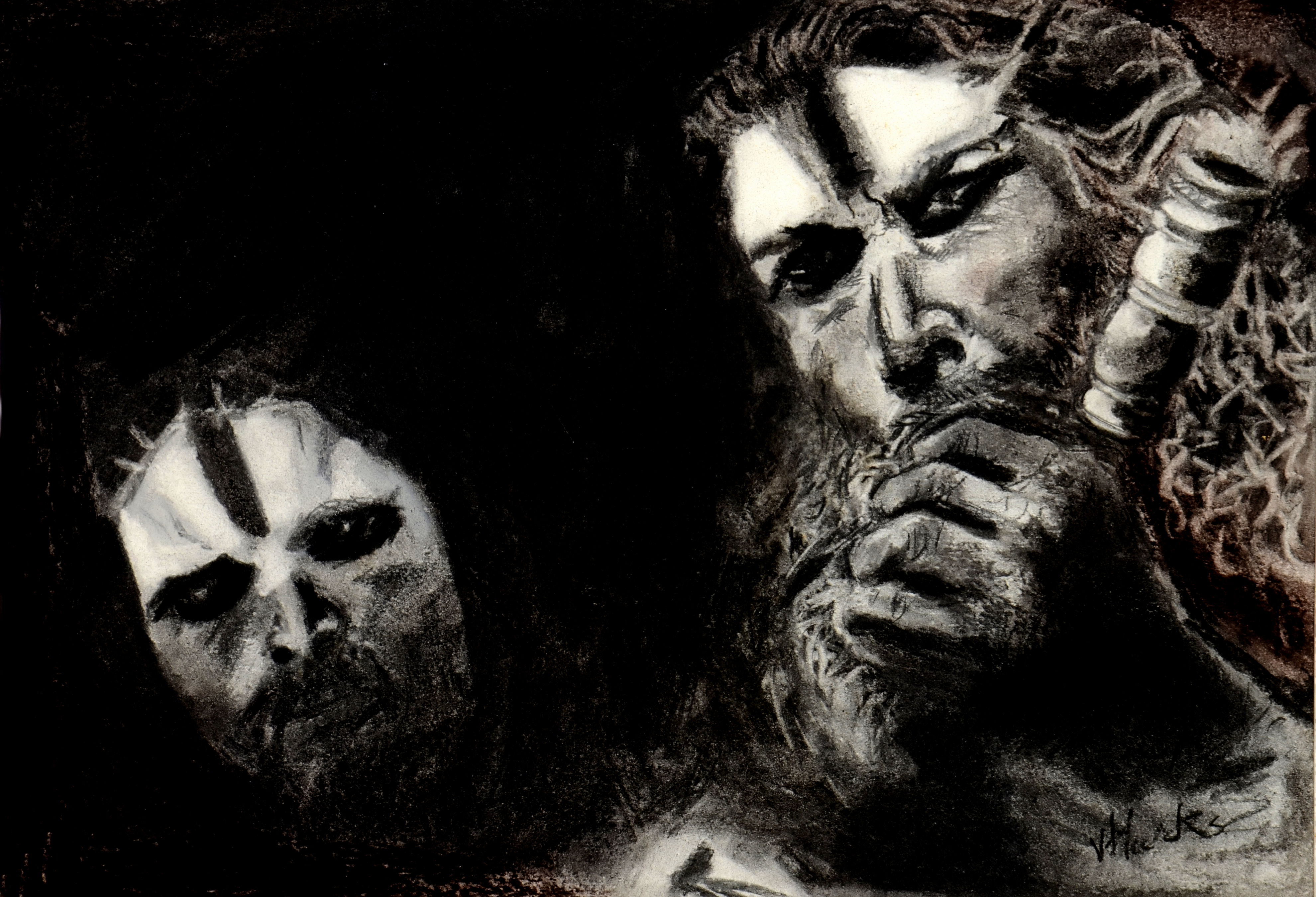 Buy Painting Aghori Artwork No 7679 by Indian Artist Alexius R