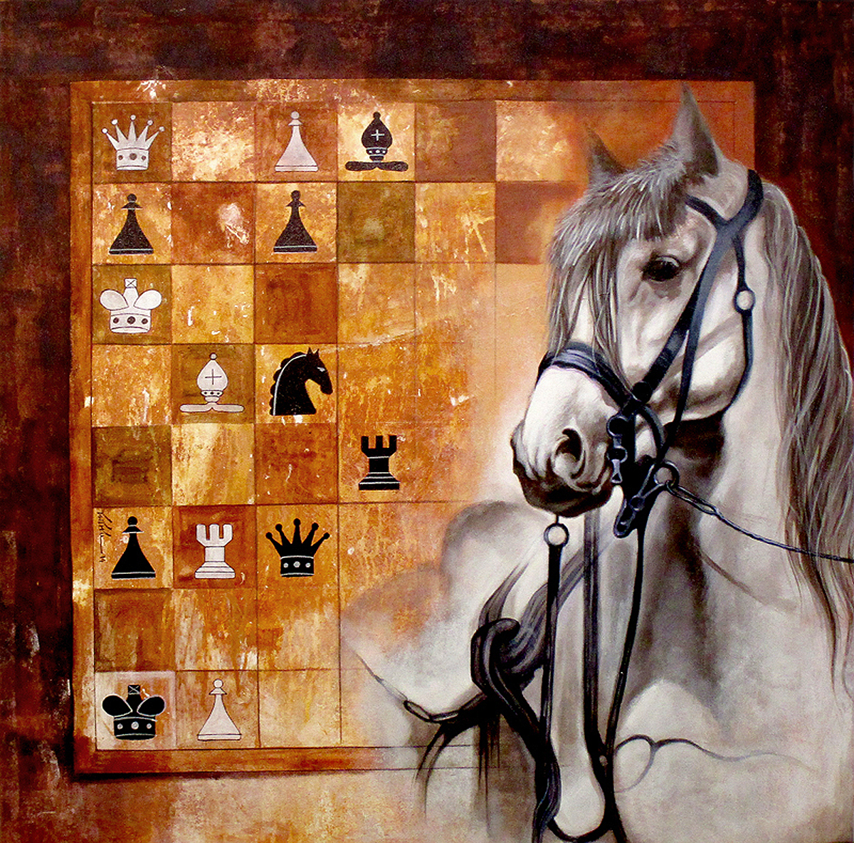 Horse in the chess 04 8006