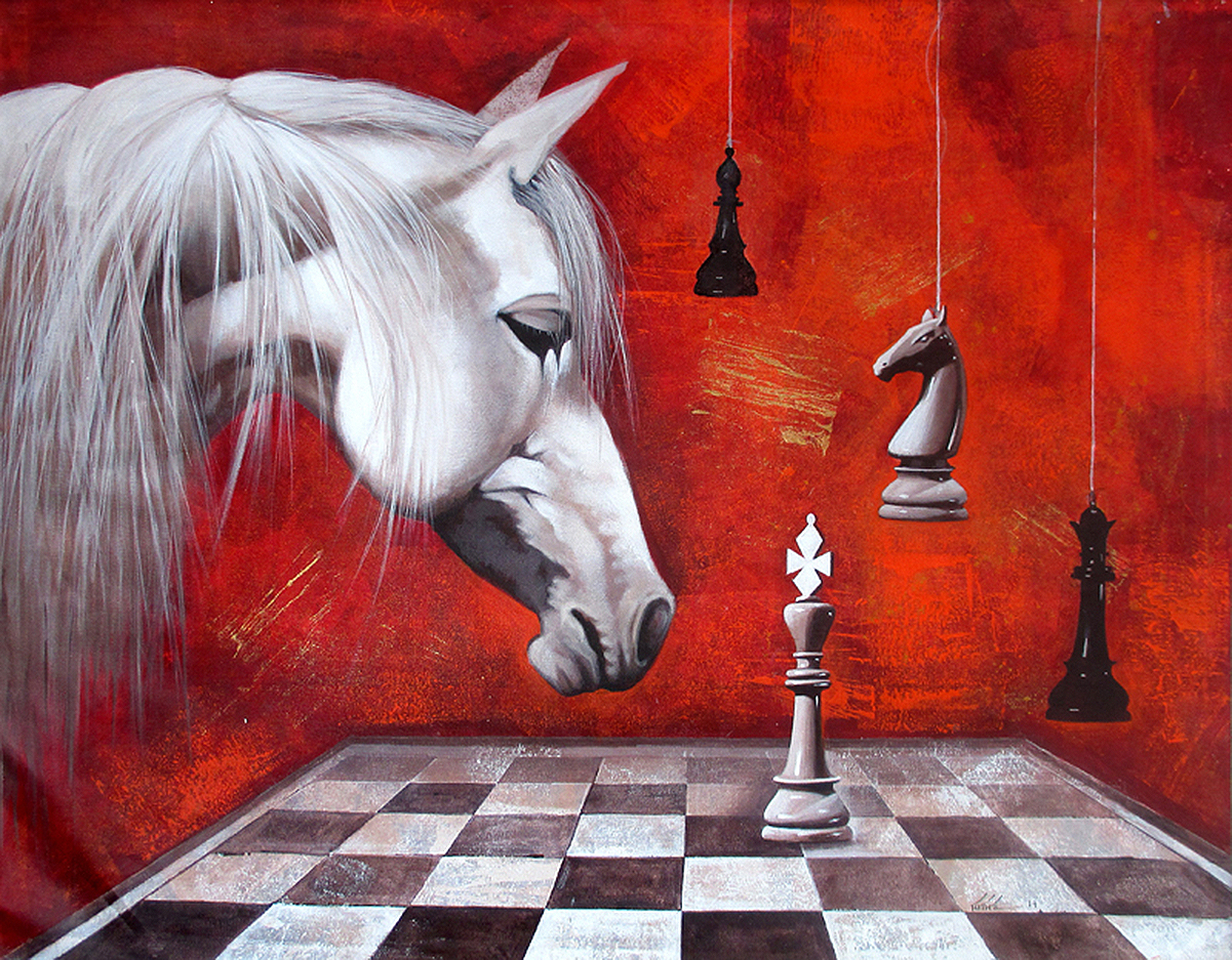 Horse in The Chess 10 8007