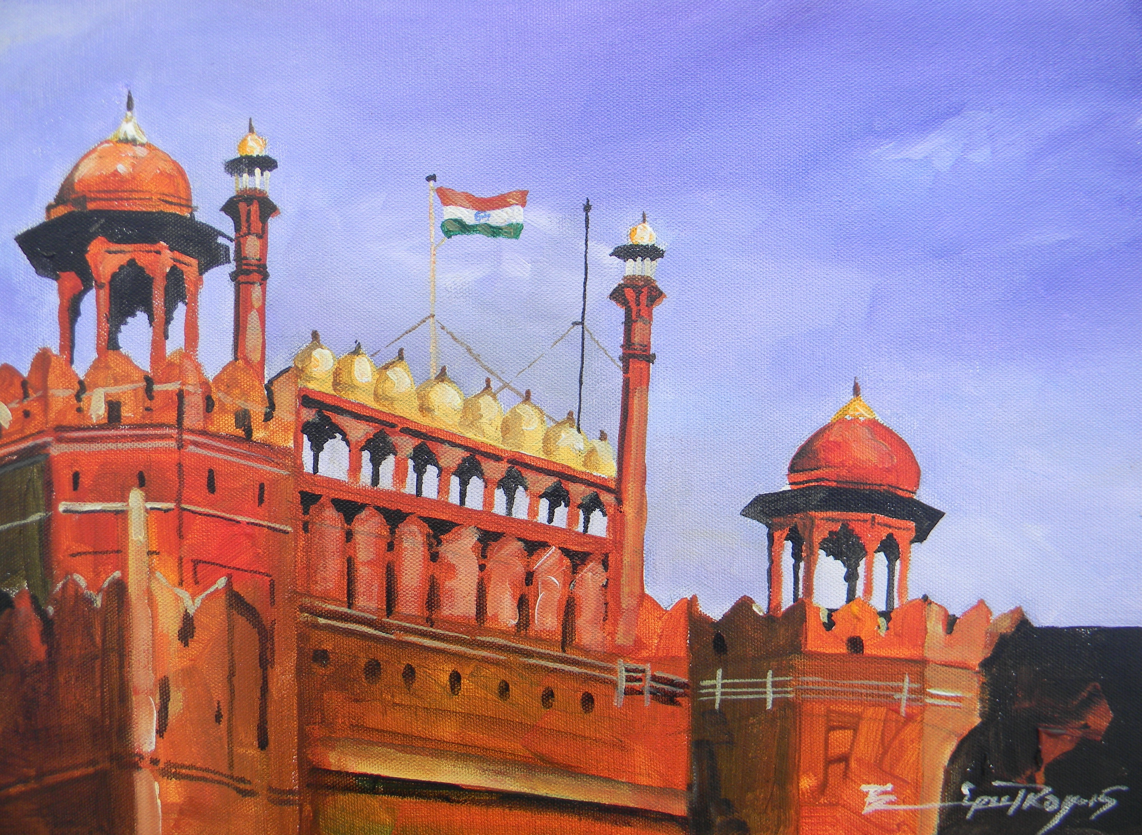 Red fort Delhi 8237