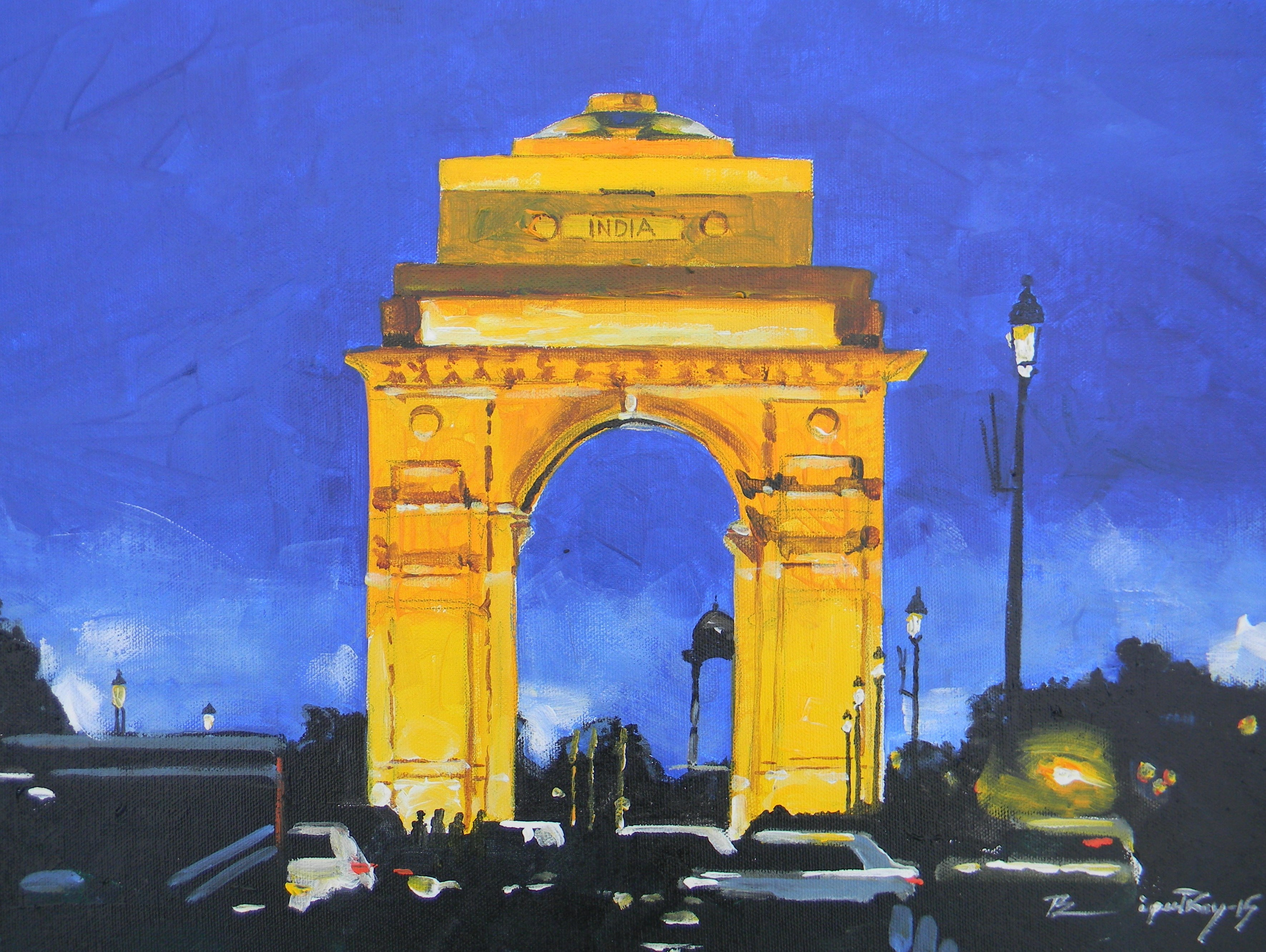 Night view of India gate 8239