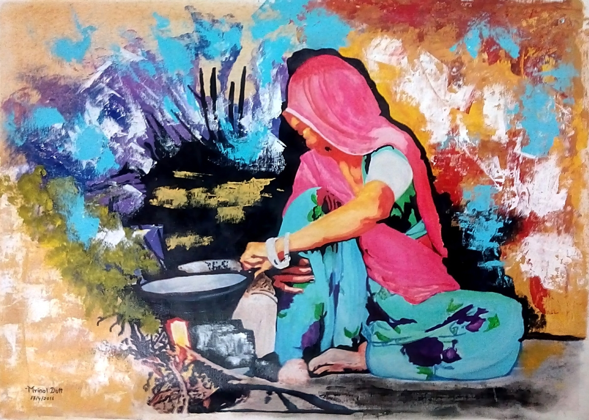 Colors of an Indian woman 8323