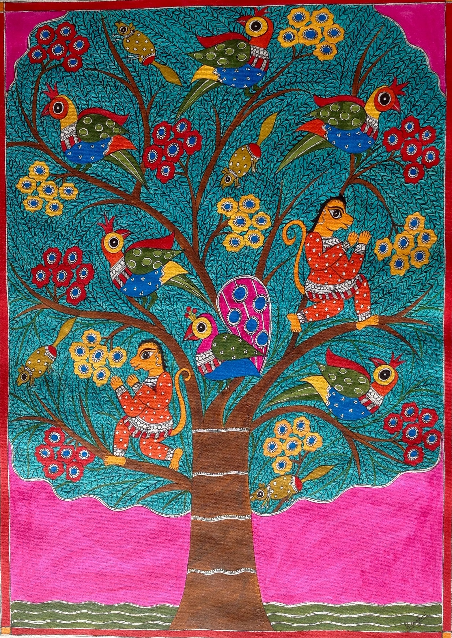 Buy Painting Tree Of Life Artwork No 8050 by Indian Artist ...