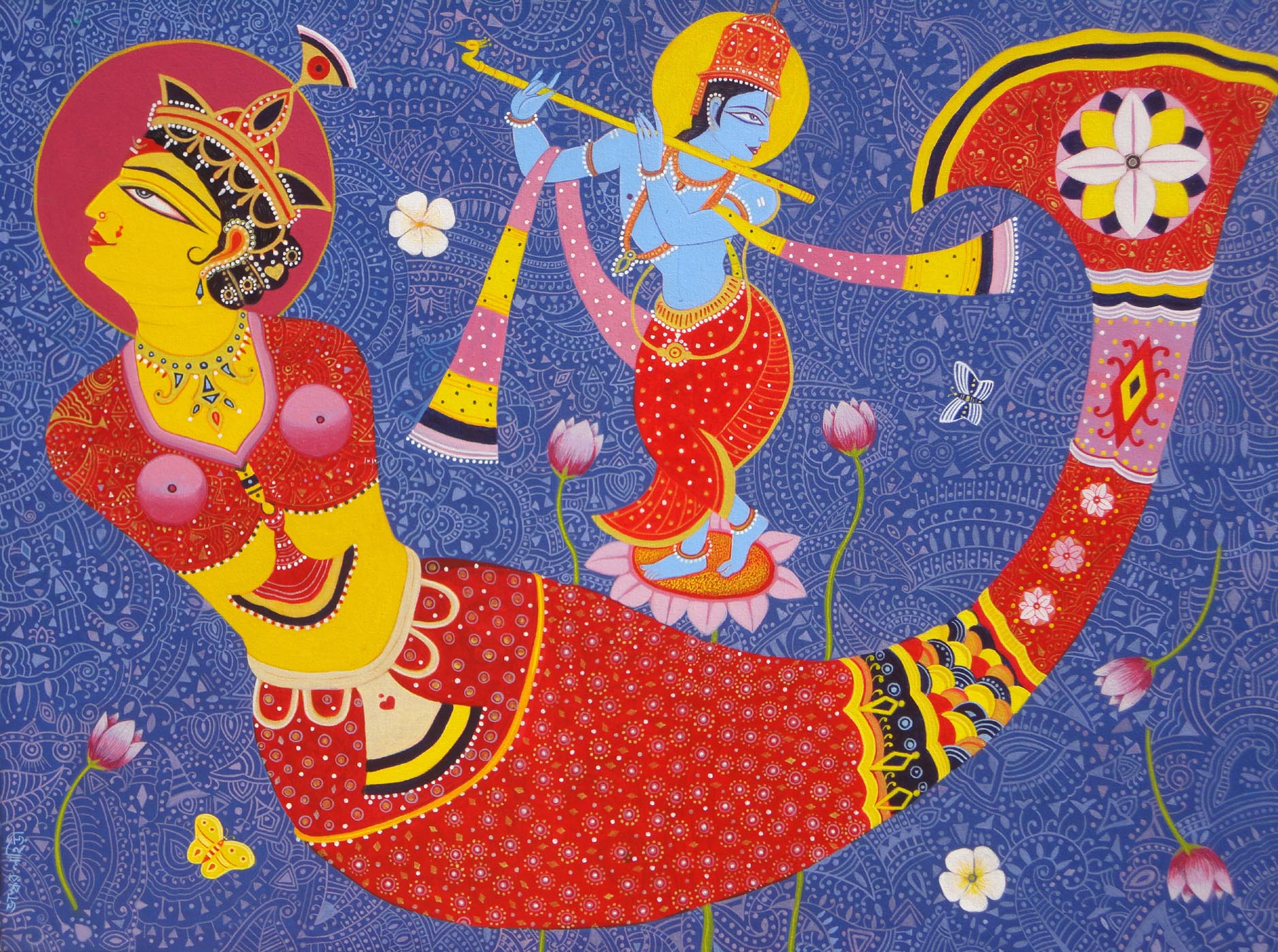 Dreamgirl with Krishna 8297