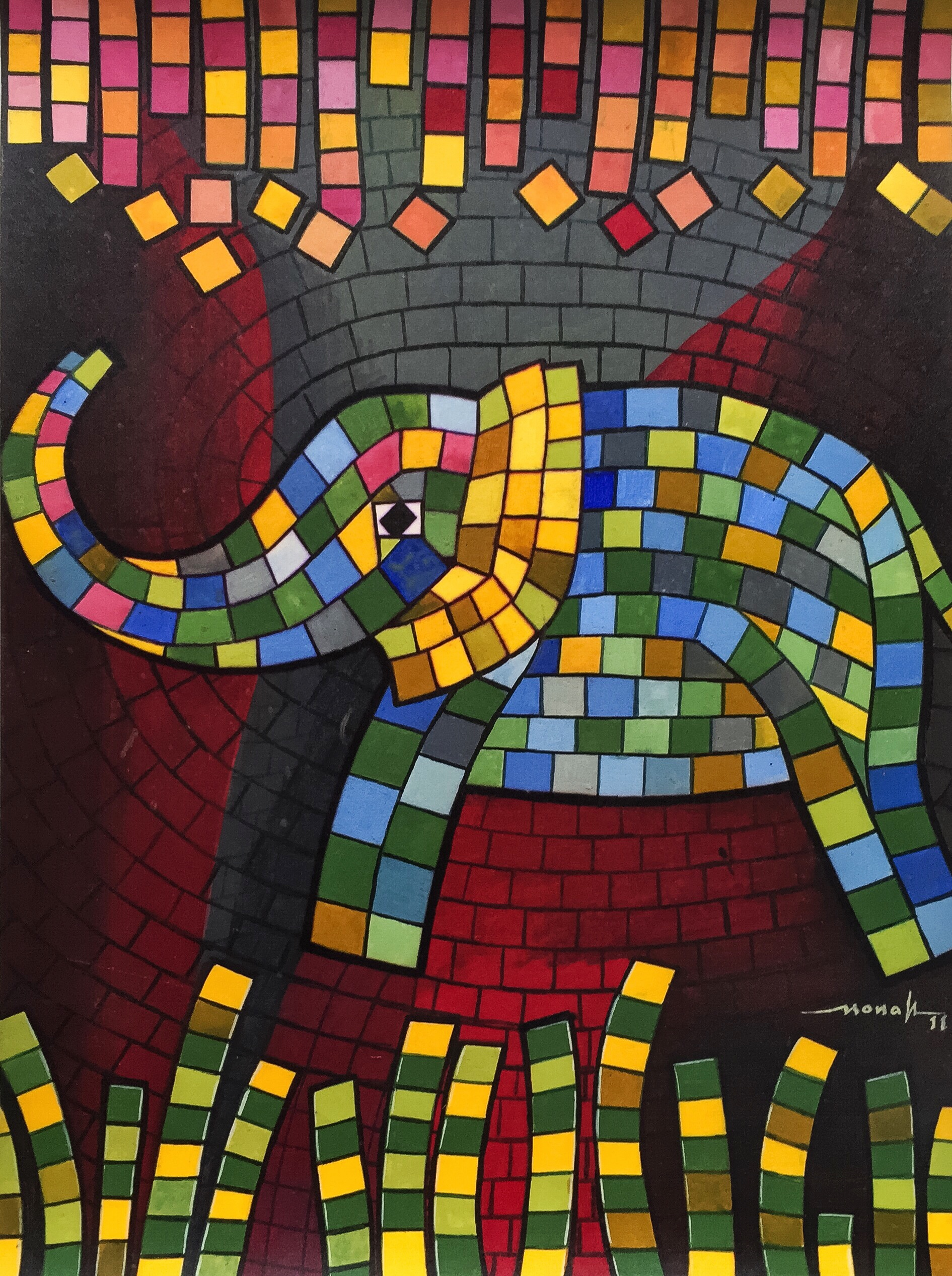 Colorful elephant 9629