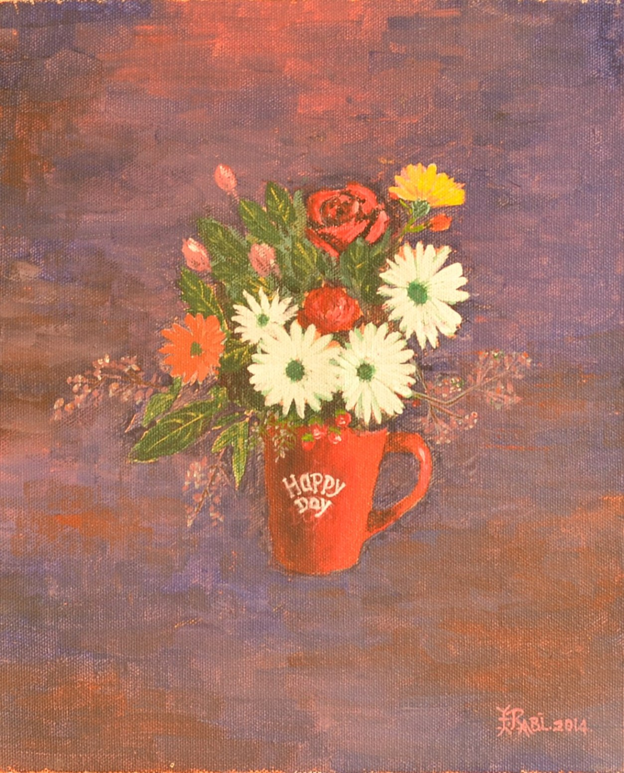 Flowers in cup 9876