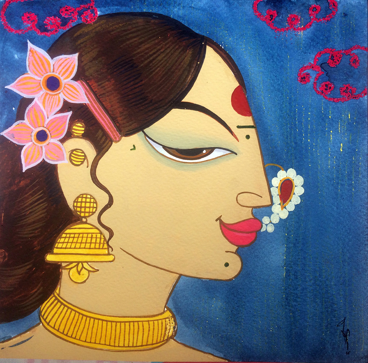 Buy Painting Face 31 Artwork No 10002 By Indian Artist