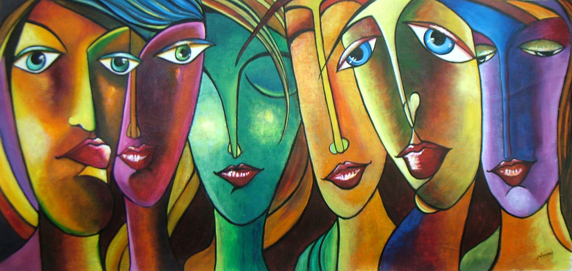 Buy painting attitudes artwork no 10076 by indian artist for Cool paintings for sale