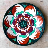 Hand painted Turkish Green Wall Plate 9612