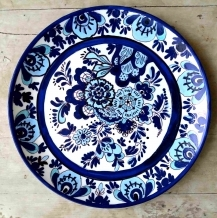 Hand painted Dutch Blue wall plate (Large) 9607
