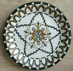 Hand painted Turkish Mandala wall plate (Large) 9613